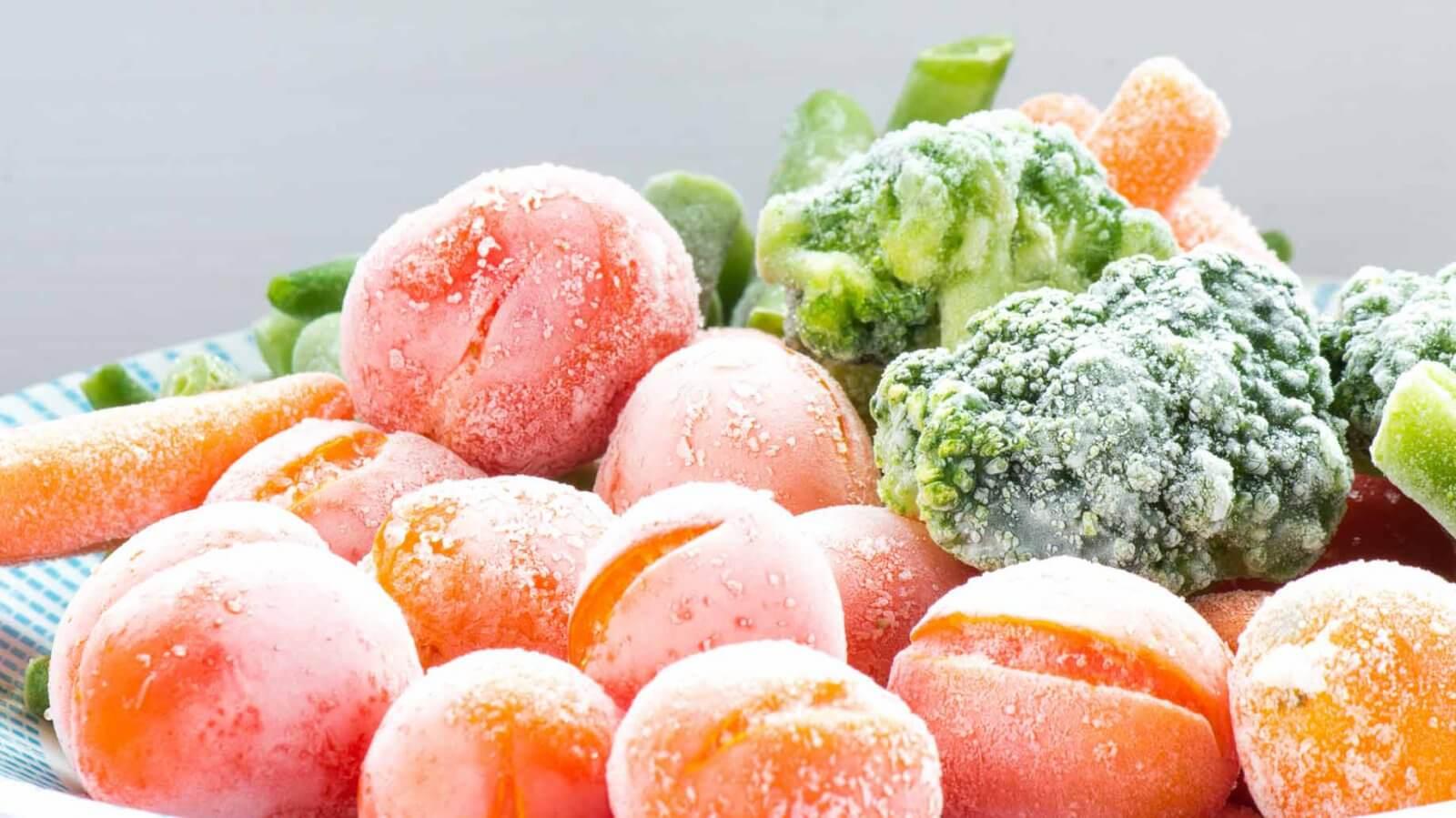 Ξηρός πάγός και καταψυγμένα τρόφιμα